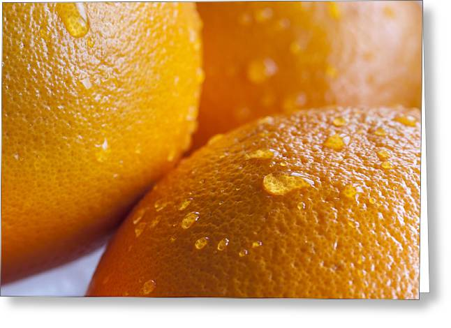 Oranges Greeting Card by Andrew Campbell