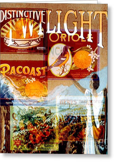 Oranges Greeting Card by David Mendoza