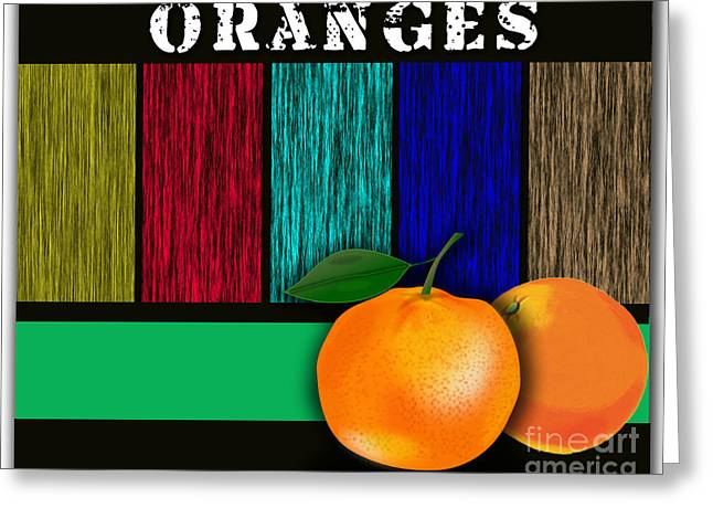 Oranges  Greeting Card by Marvin Blaine