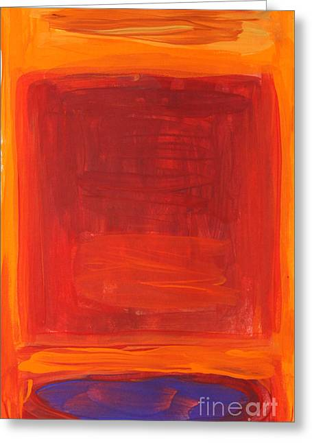 Oranges Reds Purples After Rothko Greeting Card by Anne Cameron Cutri
