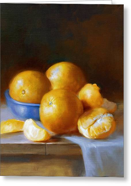 Oranges Greeting Card by Robert Papp