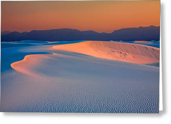 Orangesicle Dunes Greeting Card by Tom Weisbrook