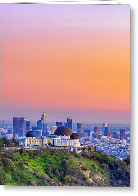 Orangesicle Griffith Observatory Greeting Card