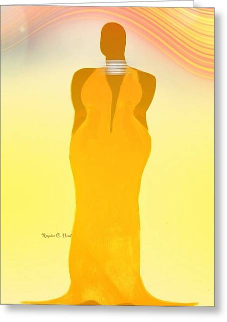 Orangewavechic Greeting Card by Romaine Head