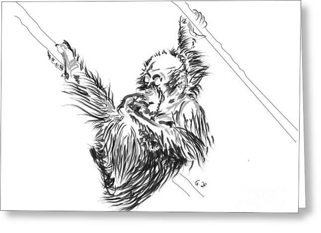 Orangutan Baby 2 Greeting Card