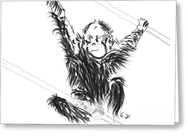 Orangutan Baby Greeting Card