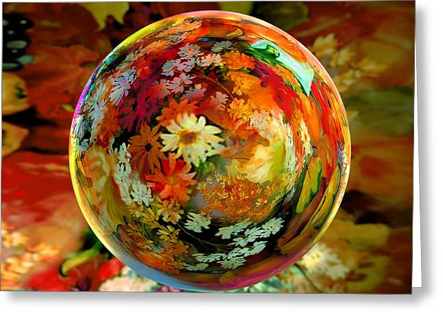 Orb Of Forever Autumn Greeting Card by Robin Moline