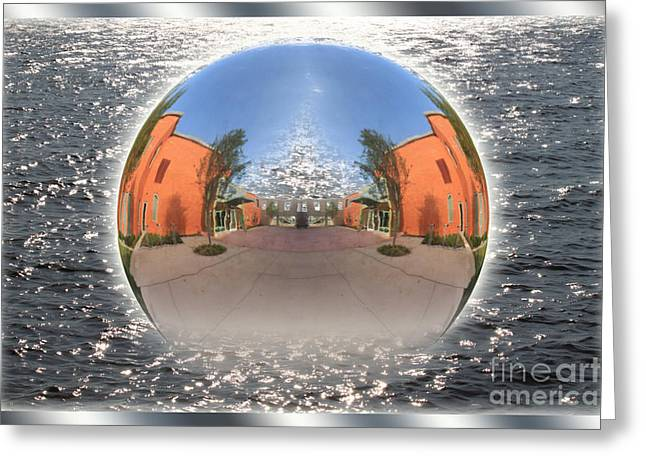 Orb On The Water Greeting Card