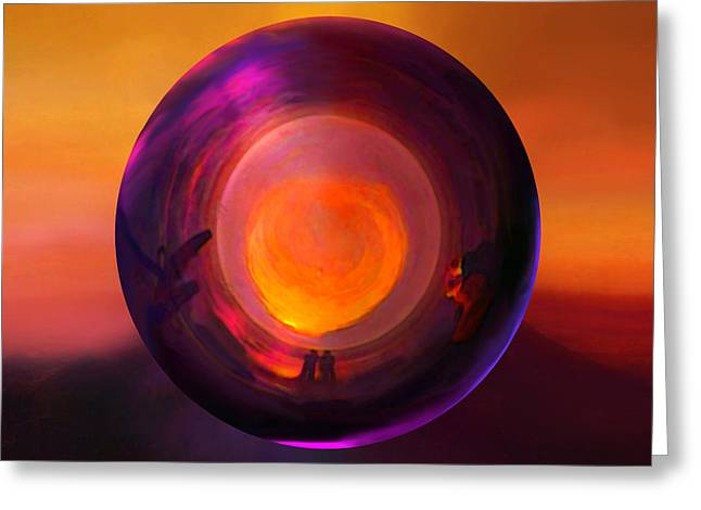Orbing An Evening Sunset Greeting Card by Robin Moline