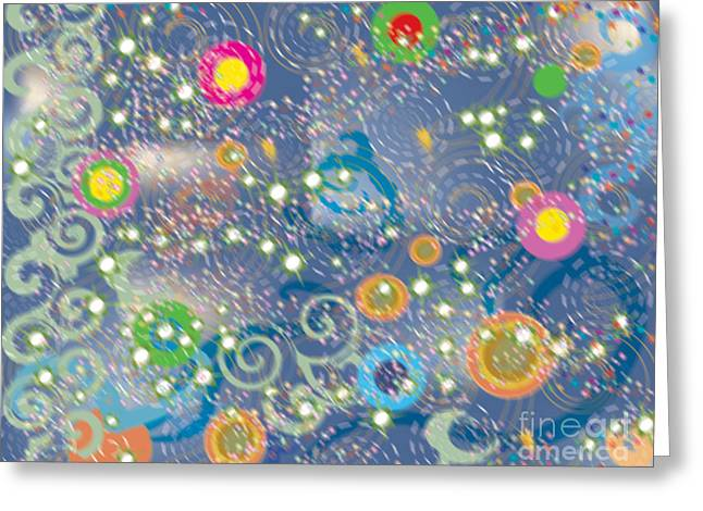 Orbs Greeting Card