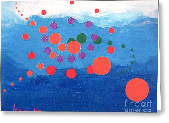 Orbs Under Water Greeting Card by Rod Ismay