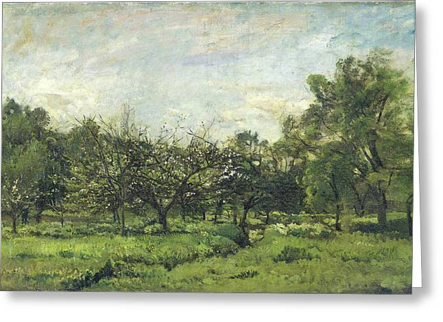 Orchard, Charles François Daubigny Greeting Card by Litz Collection