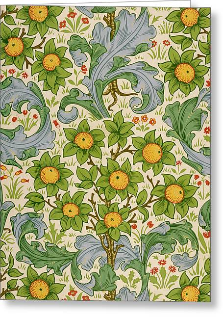Orchard, Dearle, 1899 Greeting Card by William Morris