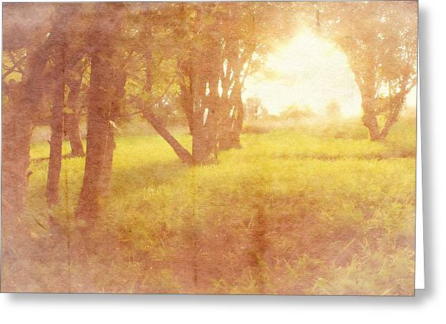 Orchard View Greeting Card by Brett Pfister