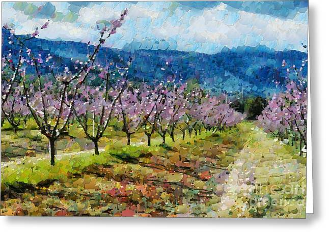 Orchard Views Greeting Card by Fran Woods