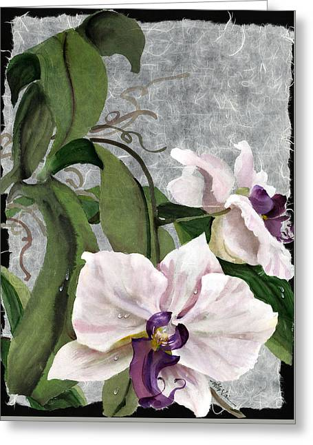 Orchid A - Phalaenopsis Greeting Card by Mitzi Lai