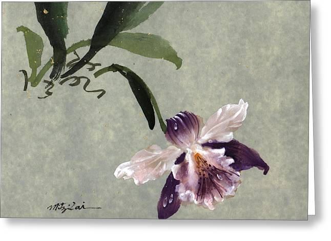Orchid B Greeting Card by Mitzi Lai
