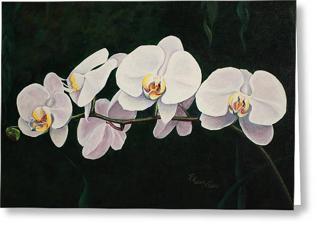 Orchid Melody Greeting Card by Pam Kaur