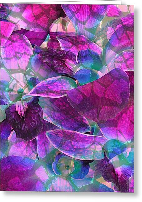 Orchid Splash Greeting Card by Diane Alexander