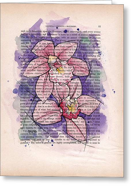 Orchid Study I Greeting Card by Rudy Nagel