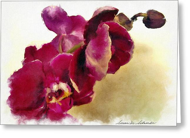Orchids No. 5 Greeting Card by Susan Schroeder