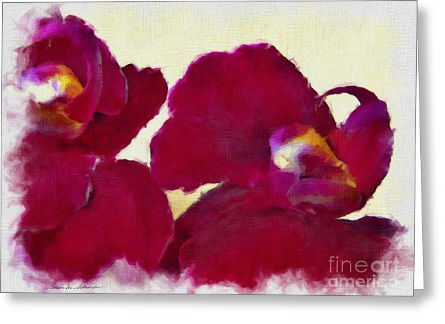 Orchids No. 4 Greeting Card by Susan Schroeder