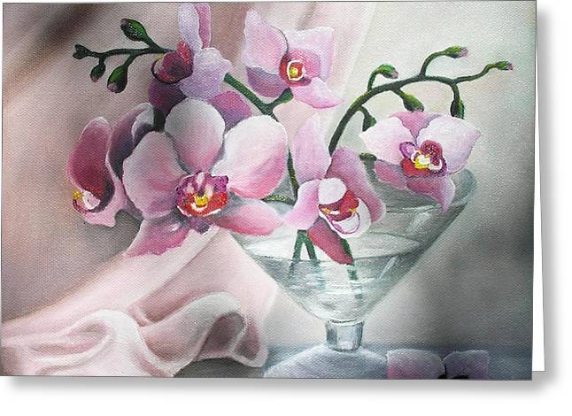 Orchids Greeting Card by Vesna Martinjak