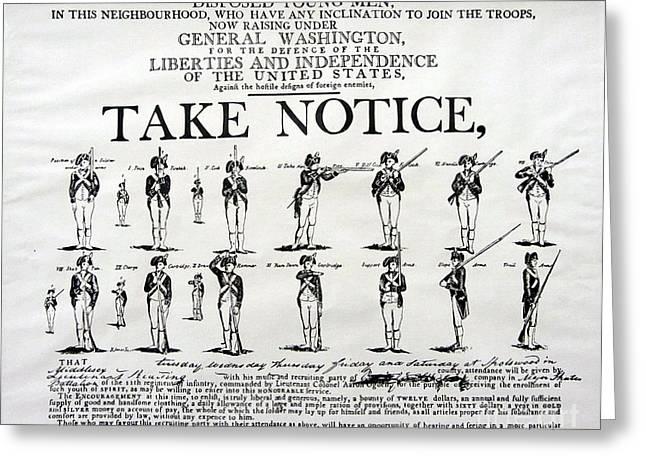 Order Of Battle - Take Notice Brave Men Greeting Card