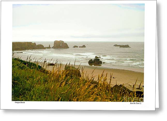 Greeting Card featuring the digital art Oregon Beach by Kenneth De Tore