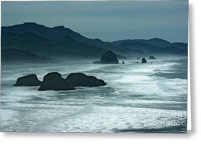 Oregon Cannon Beach Greeting Card by Nur Roy