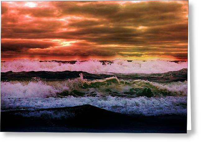 Greeting Card featuring the photograph Ocean Storm by Aaron Berg