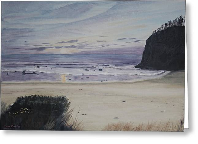 Oregon Coast Greeting Card by Ian Donley