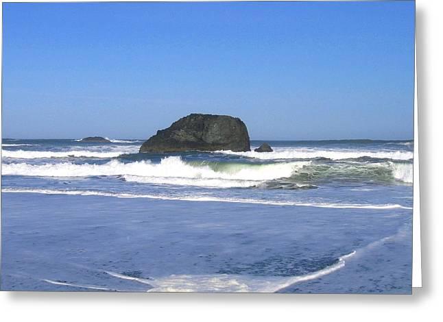 Oregon Coast Seascape Greeting Card