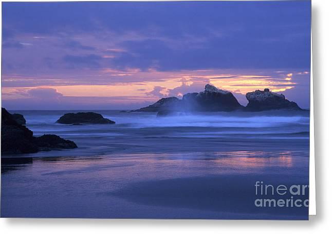 Oregon Coast Sunset Greeting Card