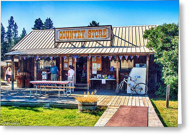 Oregon Country Store Greeting Card by Bob and Nadine Johnston