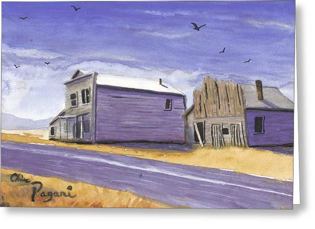 Oregon Ghost Town Watercolor Greeting Card