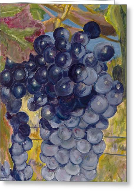 Oregon Grapes Greeting Card by Nick Vogel