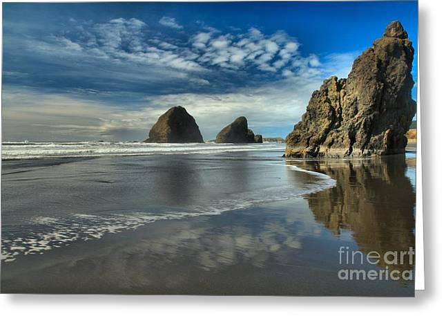 Oregon Sea Stack Surf Greeting Card