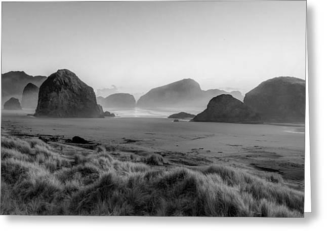 Oregon Sea Stacks Greeting Card by Debra and Dave Vanderlaan