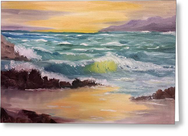 Oregon Seascape Greeting Card