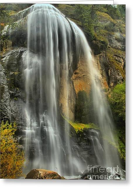 Oregon Silver Falls Greeting Card