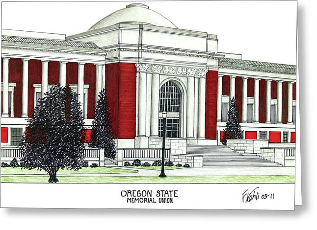 Oregon State Greeting Card by Frederic Kohli