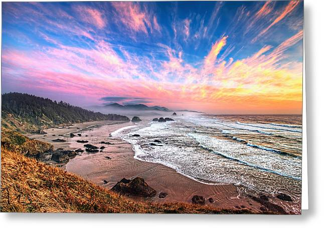 Oregon Sunset Greeting Card