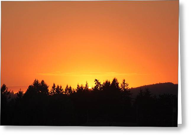 Oregon Sunset Greeting Card by Melanie Lankford Photography