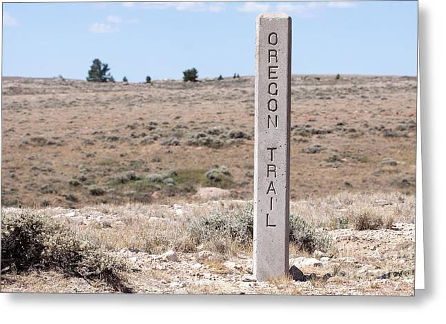 Oregon Trail Marker Greeting Card by Cindy Singleton