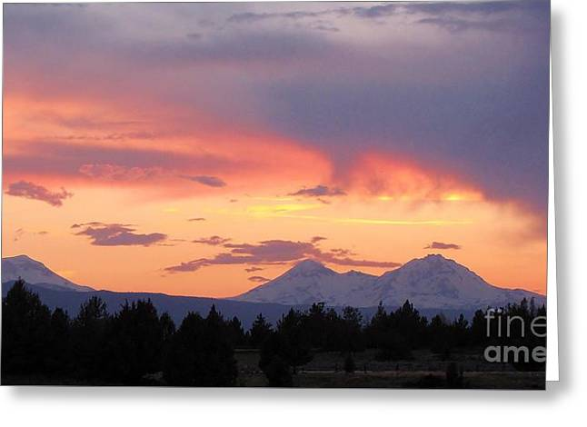 Oregon's Three Sisters  Greeting Card