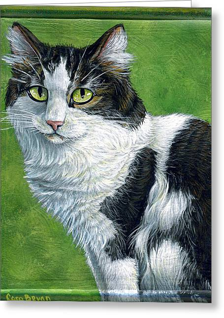 Oreo Greeting Card by Cara Bevan