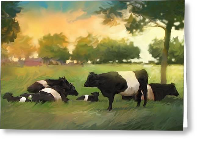 Oreo Cows Greeting Card by Curtis Chapline