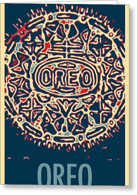 Oreo In Hope Greeting Card by Rob Hans