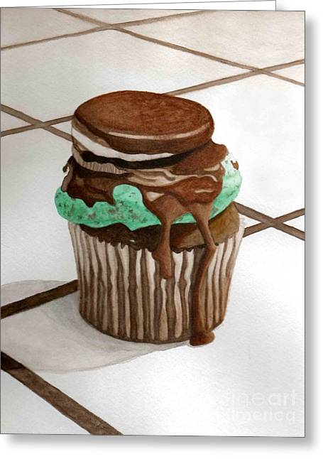 Oreo Mint Greeting Card by Celestrya Sweets